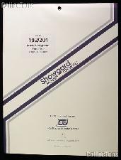 Showgard Pre-Cut Black Stamp Mounts Size 192/201