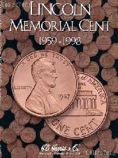 Harris Lincoln Cents 1959-1998 Coin Folder  2675