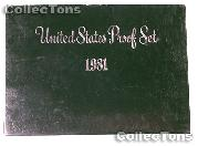 1981 U.S. Mint Proof Set OGP Replacement Box