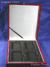Single Tray Wooden Box for 4 Universal Slab Holders