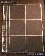 Dansco 6-Pocket Vinyl Album Page for 3x3 Holders