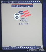 U.S. Mint Half Cents 1793-1857 Album #1714