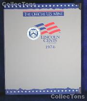 U.S. Mint Lincoln Cents 1974-2002 Album #1745