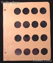 Dansco Blank Album Page for 28mm Coins