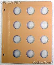 Dansco Blank Album Page for 30mm Coins