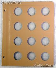 Dansco Blank Album Page for 31mm Coins