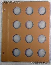 Dansco Blank Album Page for 33mm Coins