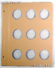 Dansco Blank Album Page for 38mm Coins
