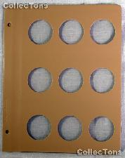 Dansco Blank Album Page for 40mm Coins