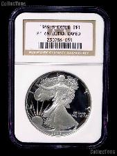 1989-S American Silver Eagle Dollar PROOF in NGC PF 69 ULTRA CAMEO