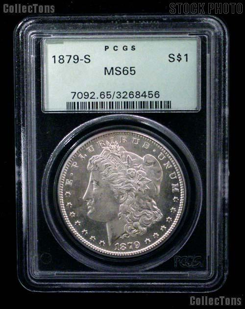 1879-S Morgan Silver Dollar in PCGS MS 65