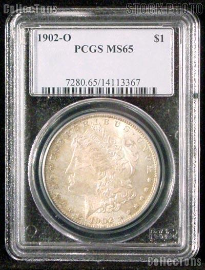 1902-O Morgan Silver Dollar in PCGS MS 65