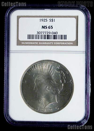 1925 Peace Silver Dollar in .