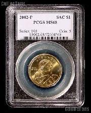 2002-P Sacagawea Golden Dollar in PCGS MS 68