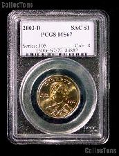 2003-D Sacagawea Golden Dollar in PCGS MS 67
