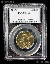 2007-D Sacagawea Golden Dollar in PCGS MS 67