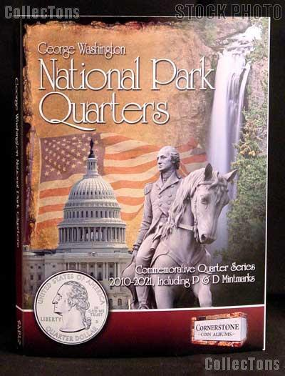 National Park Quarters Album for National Parks Commemorative Quarter Series P & D by Cornerstone