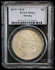 1878 7/8TF Strong Morgan Silver Dollar in PCGS MS 62