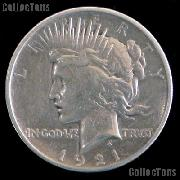 1921 Peace Silver Dollar Circulated Coin VG-8 or Better