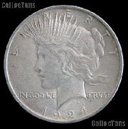 1924 S Peace Silver Dollar Circulated Coin VG-8 or Better