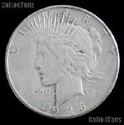 1928 Peace Silver Dollar Circulated Coin VG-8 or Better