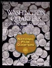National Park Washington Quarters Folder by Harris P & D Volume 1 2010 - 2015