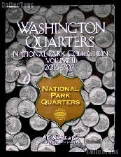 National Park Washington Quarters Folder by Harris P & D Volume 2 2016 - 2021