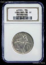 1925 Stone Mountain Memorial Silver Commemorative Half Dollar in NGC MS 66