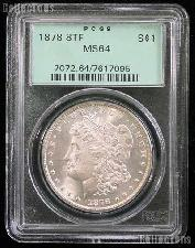 1878 8TF Morgan Silver Dollar in PCGS MS 64 (Eight 8 Tail Feathers)