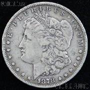 1878 7/8TF (Str. TF) Morgan Silver Dollar Circulated Coin VG 8 or Better