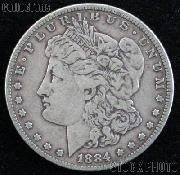 1884 S Morgan Silver Dollar Circulated Coin VG 8 or Better