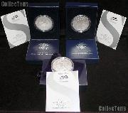 Burnished Silver Eagle Set 2006 - 2008, 2011 - 2013 All in Box w/ COA American Silver Eagle Dollars