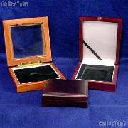 Coin Collecting Supplies - Wooden Coin Boxes