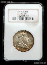 1949-S Franklin Silver Half Dollar KEY DATE in NGC MS 64