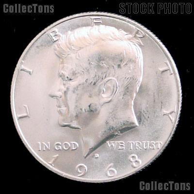 1968-D Kennedy Silver Half Dollar GEM BU 1968 Kennedy Half Dollar
