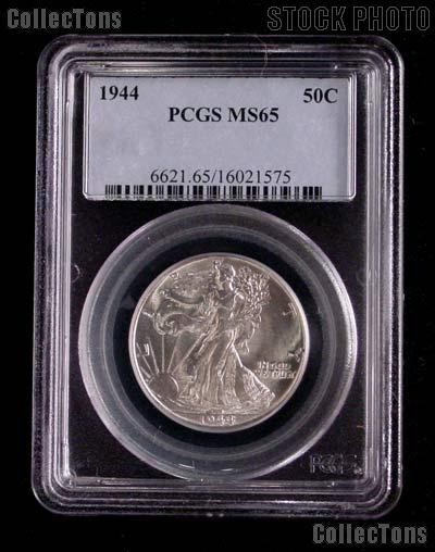 1944 Walking Liberty Silver Half Dollar in PCGS MS 65