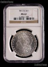 1878-CC Morgan Silver Dollar in NGC MS 63