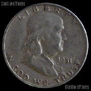 1951-S Franklin Half Dollar Silver Coin 1951 Half Dollar Coin