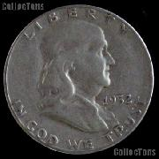 1952-D Franklin Half Dollar Silver Coin 1952 Half Dollar Coin
