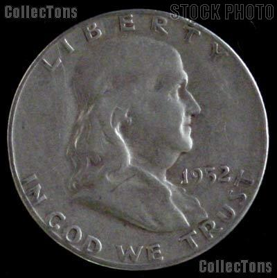 1952-S Franklin Half Dollar Silver Coin 1952 Half Dollar Coin