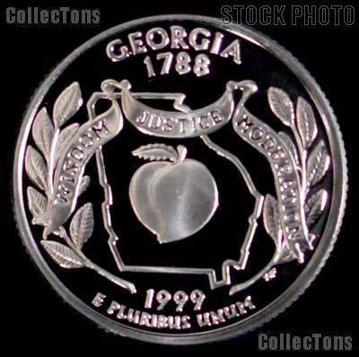 1999-S Georgia State Quarter PROOF Coin 1999 Quarter