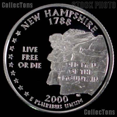 2000-S New Hampshire State Quarter SILVER PROOF 2000 Silver Quarter