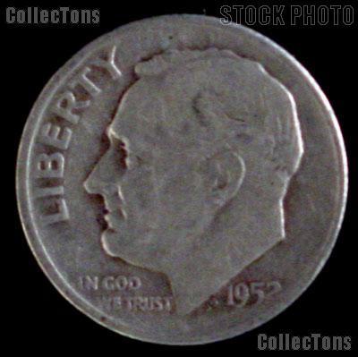1952-D Roosevelt Dime Silver Coin 1952 Silver Dime