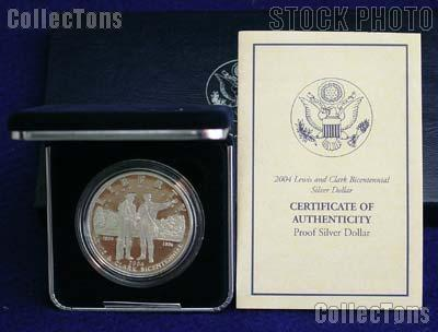 2004-P Lewis and Clark Bicentennial Commemorative Proof Silver Dollar