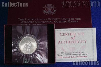1995-S Atlanta Olympic Games Centennial Basketball Uncirculated Clad Half Dollar