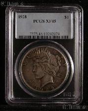 1928 Peace Silver Dollar KEY DATE in PCGS XF 45