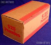 Corrugated Cardboard Coin Transport Box for Cent/Penny Rolls
