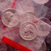 1964-D Washington Silver Quarter BU in Mint Cello