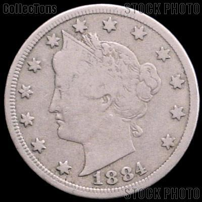 1884 Liberty Head V Nickel G-4 or Better