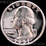 1951 Washington Silver Quarter - Proof